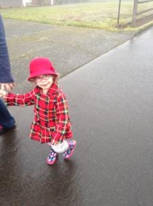 Going puddle splashing